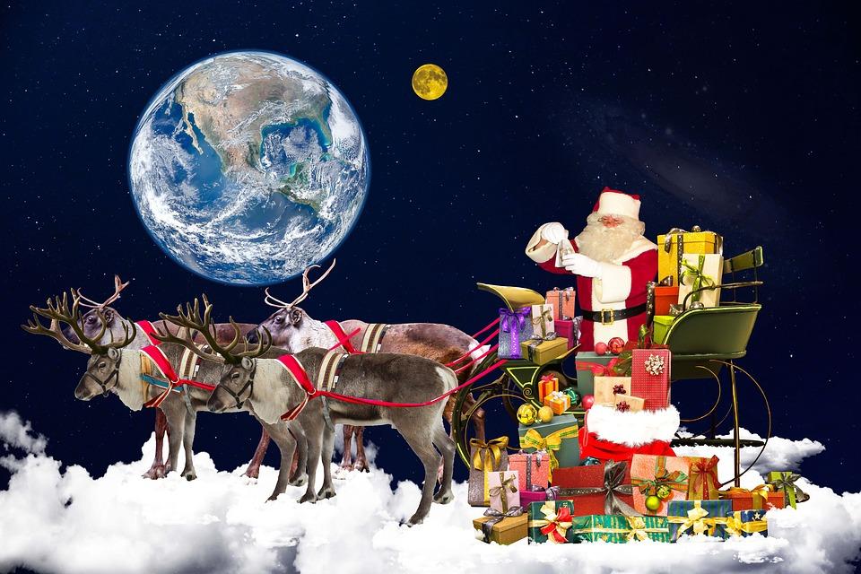 Christmas, Santa Claus, Christmas Motif, Gifts, Made