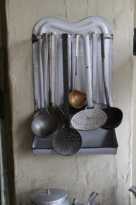Made, Spoons, Kitchen, Museum, Antique, Vintage