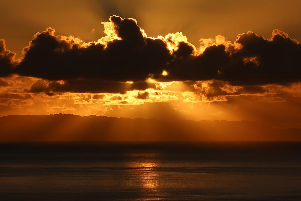 Madeira, Sunset, Dawn, Sun, Dusk, Water