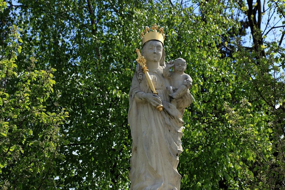 Madonna, Sculpture, Figure, Monument, Religion