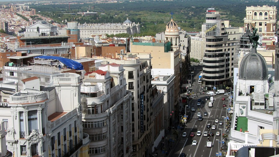 City, Madrid, Great Way, Avenue, Cars, Traffic