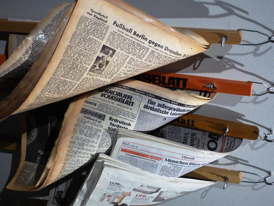 Newspaper, Magazine, Magazines, Berlin, Archive, Old