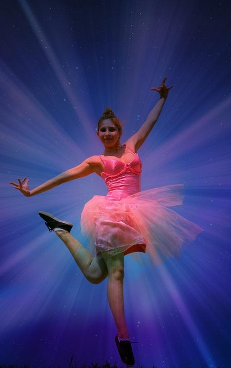 Ballerina, Tutu, Pink, Magic