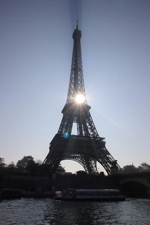 Paris, Eiffel Tower, Magic, Sun, Seine, Metal, Beam