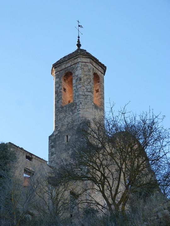 Church, Ruin, Bell Tower, Dusk, Magic