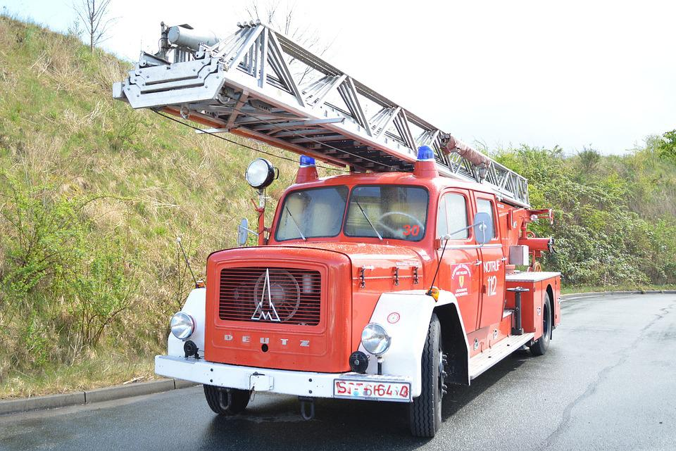 Magirus, Fire Truck, Turntable Ladder, Chief Vehicle