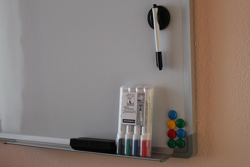 Magnetic Board, Whiteboard, Marker, Magnets