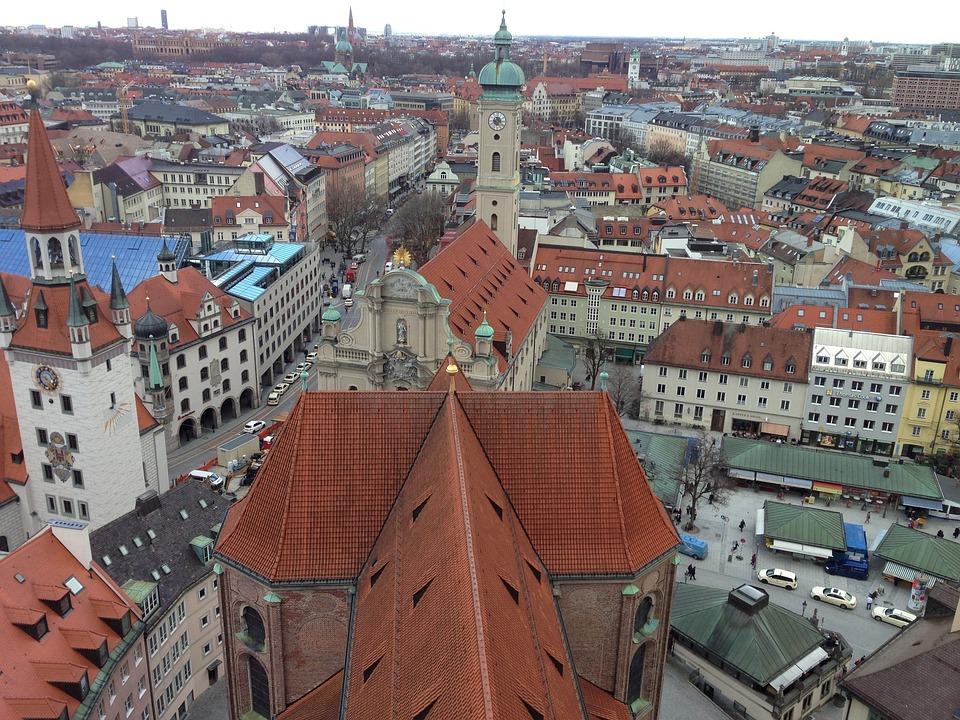 Munich, Bavaria, Downtown, Homes, Magnificent Buildings