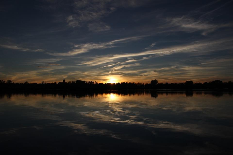 Sunset, City, Magnificent, Twilight, Sky, Sun