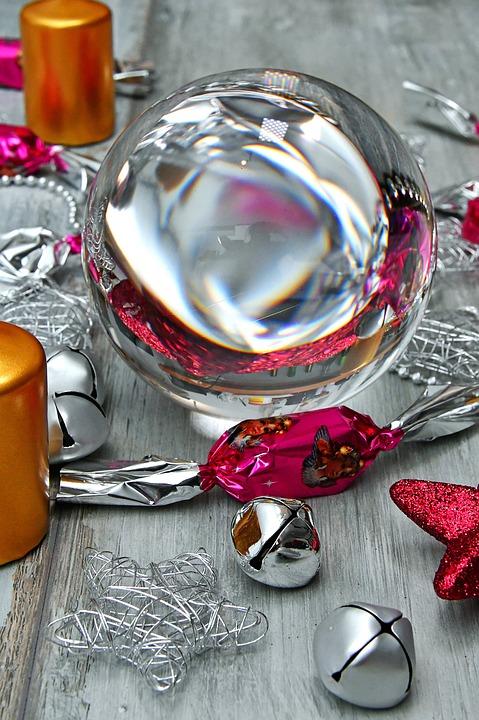 Glass Globe, Christmas, Magnifying Glass, Transparent
