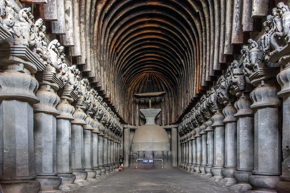 Cave, Buddhist, Karla, India, Lonavala, Maharashtra
