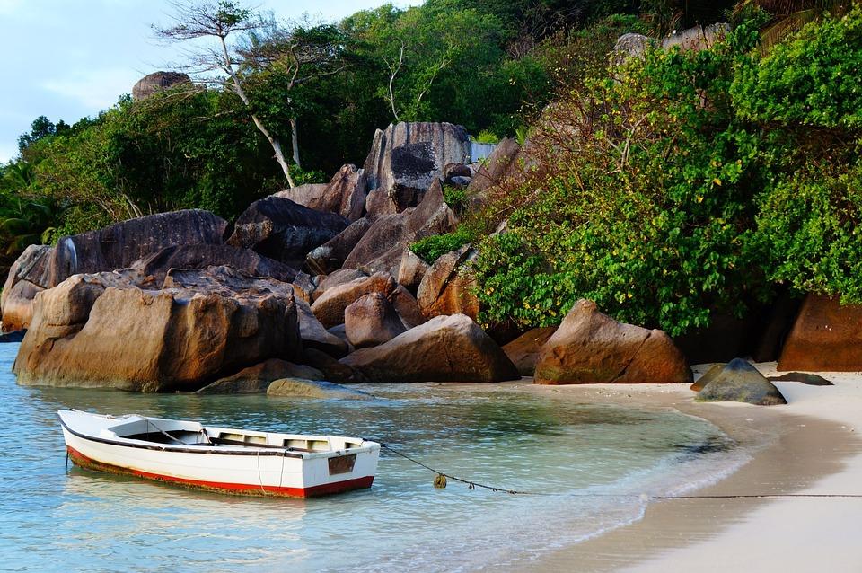Mahé, Seychelles, Island, Iceland, Palm, Sea, Blue Sea