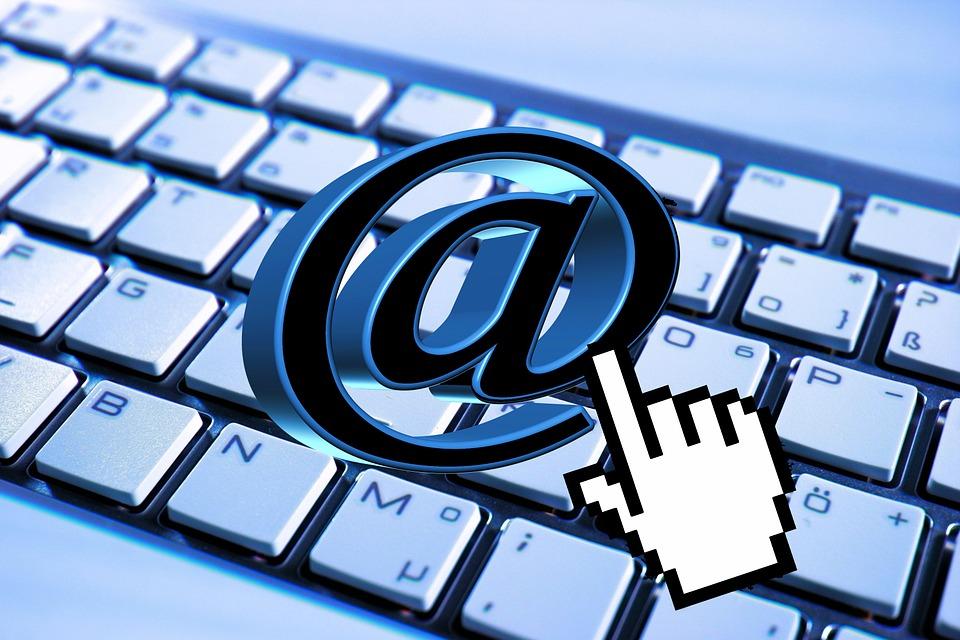 Email, Keyboard, Computer, Mail, At, Cursor, Hand