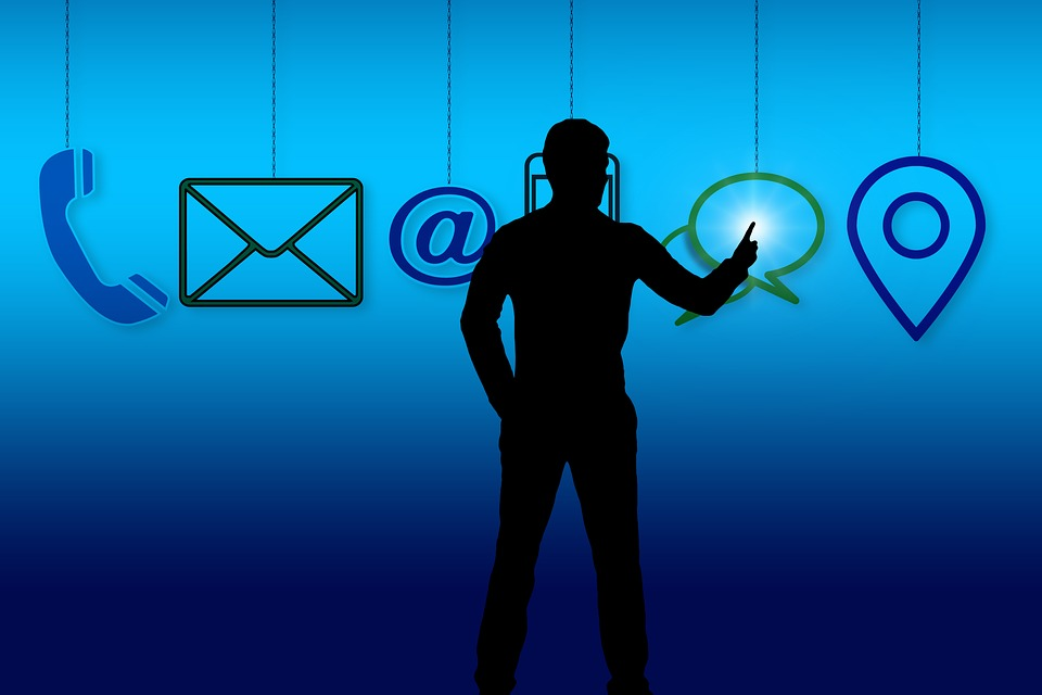 Contact, Letters, Email, Mail, Phone, Smartphone, Hand