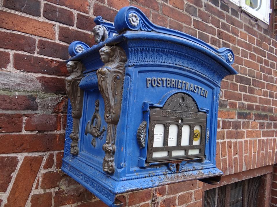 Letter Boxes, Mailbox, Blue