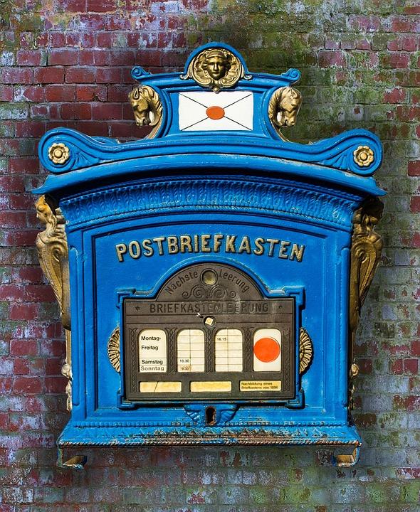 Post, Mailbox, Letter Boxes, Germany, Blacksmithing
