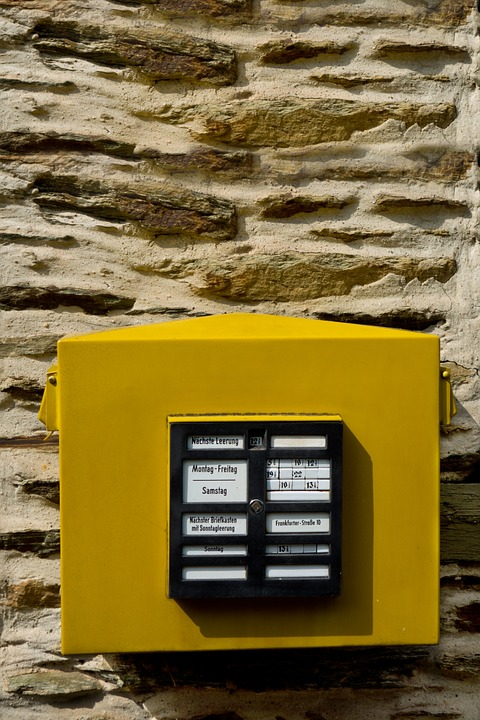 Mailbox, Letters, Yellow, Letter Boxes, Post, Send