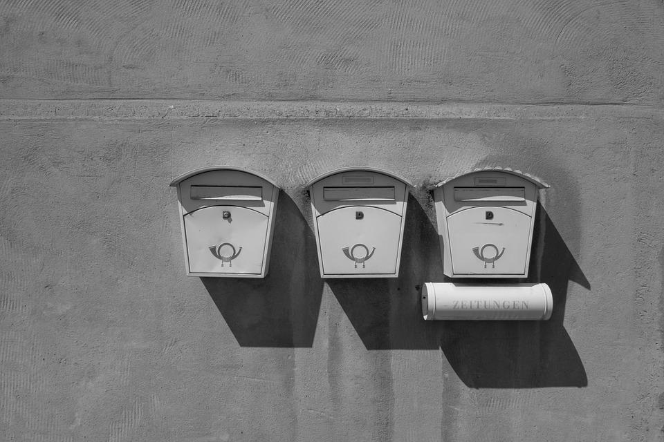 Mailbox, Post, Old, Newspaper, Wall, Post Horn, Send