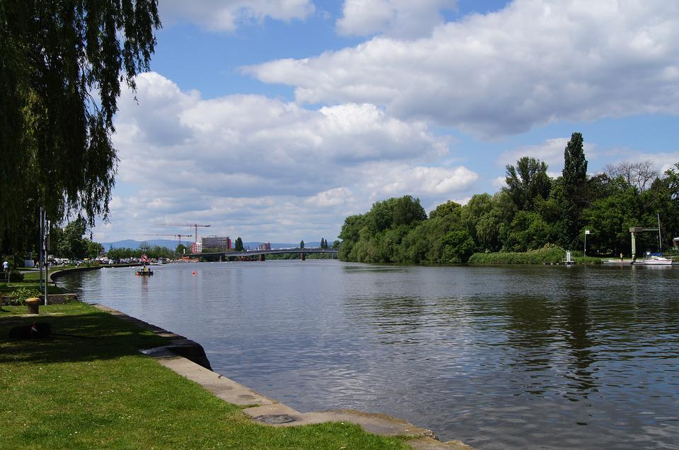 Offenbach, Main, Hessen, Germany, City, Hesse, River