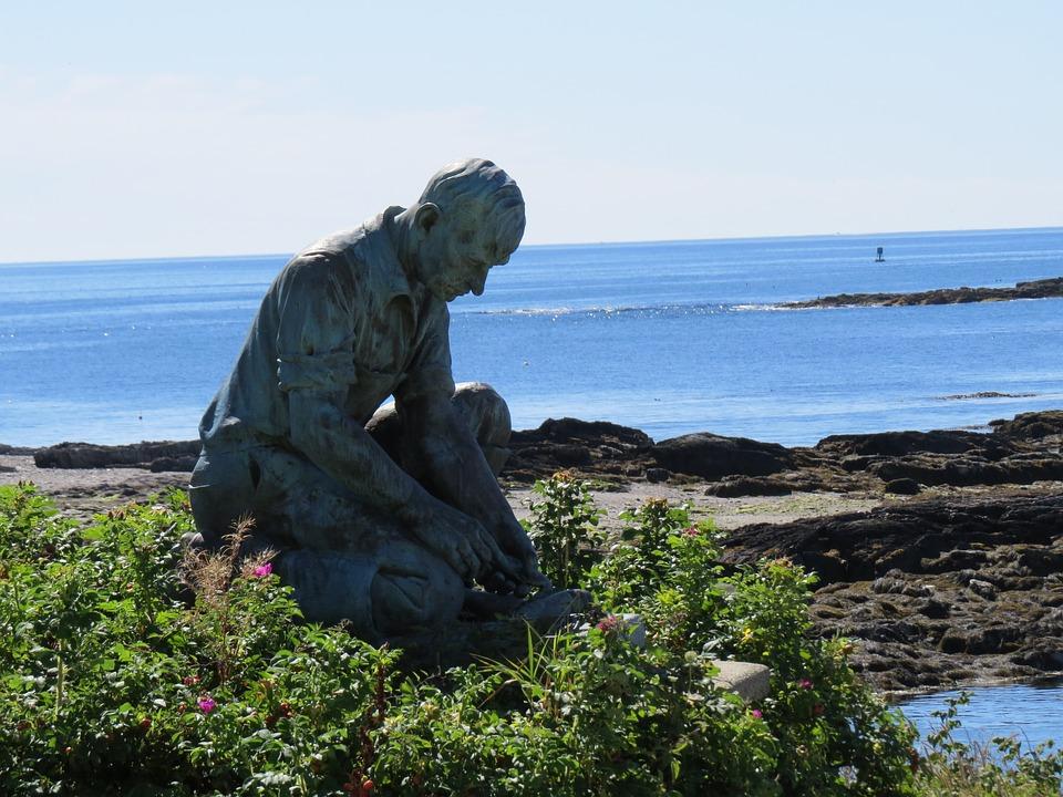 Fisherman's Memorial, Land's End, Bailey Island, Maine