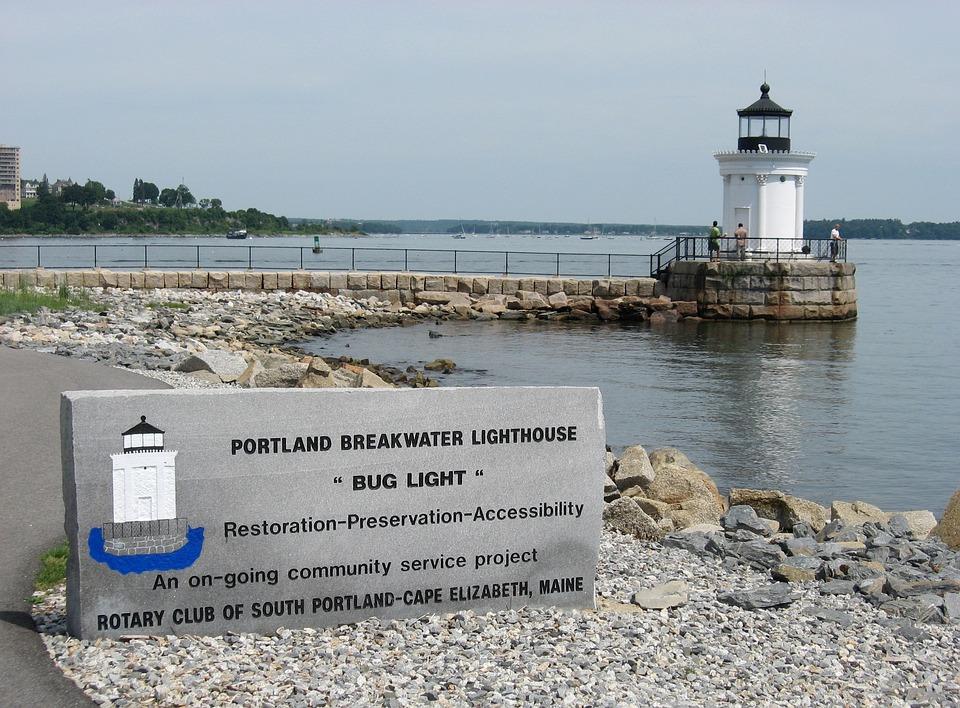 Maine, Lighthouse, Coast, Landmark, Ocean, Atlantic