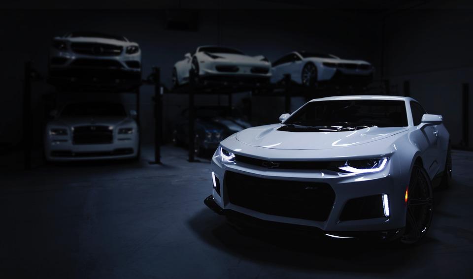 Car, Garage, Dark, Auto, Workshop, Maintenance, Vehicle