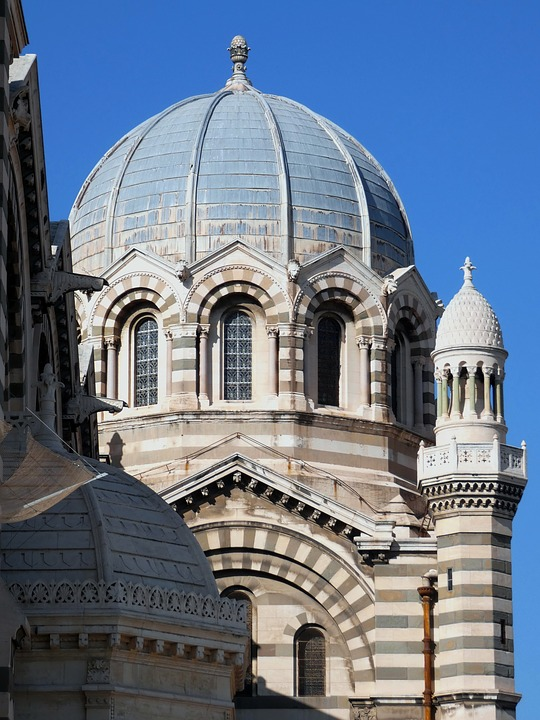 Marseille, Cathedral, Major, Dome, Architecture, Facade