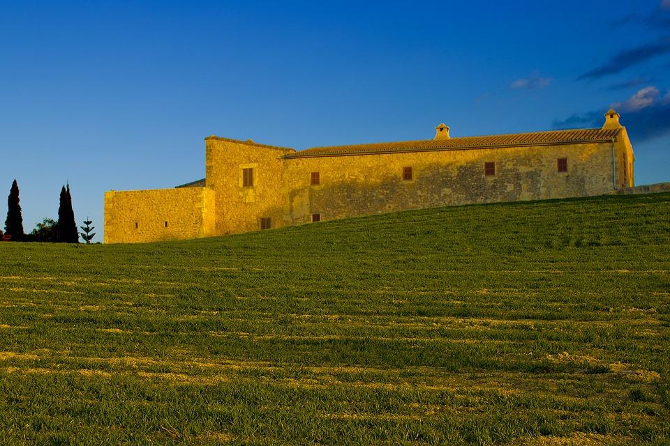 House, Rural, Landscape, Majorca, Mediterranean