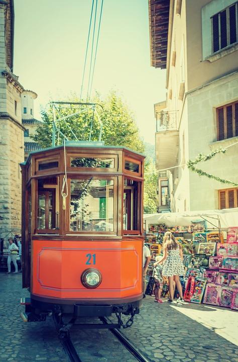 Soller, Majorca, Soller Mallorca, Tram Streetcar