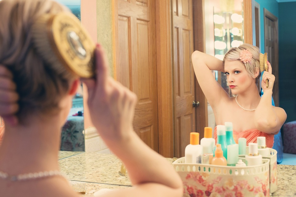Pretty Woman, Makeup, Mirror, Glamour, Model, Blonde