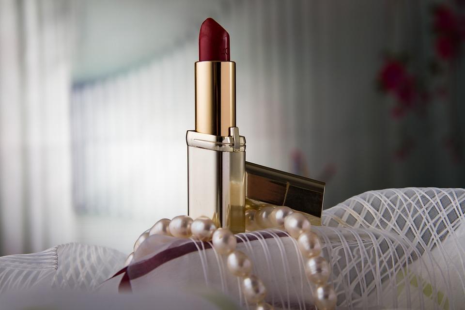 Lipstick, Makeup Pearl Necklace, Beauty, Cosmetics