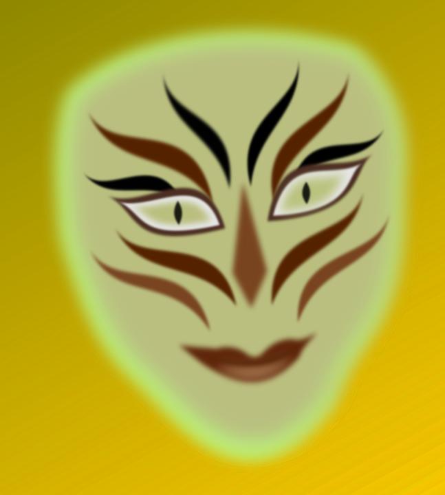 Mask, Face, Person, Green, Paint, Man, Makeup