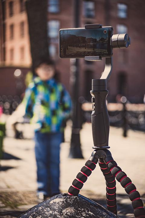 Gimbal, Taking Pictures, Making Videos, Mobile Phone