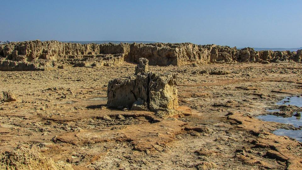 Cyprus, Ayia Napa, Makronissos, Rocky Landscape