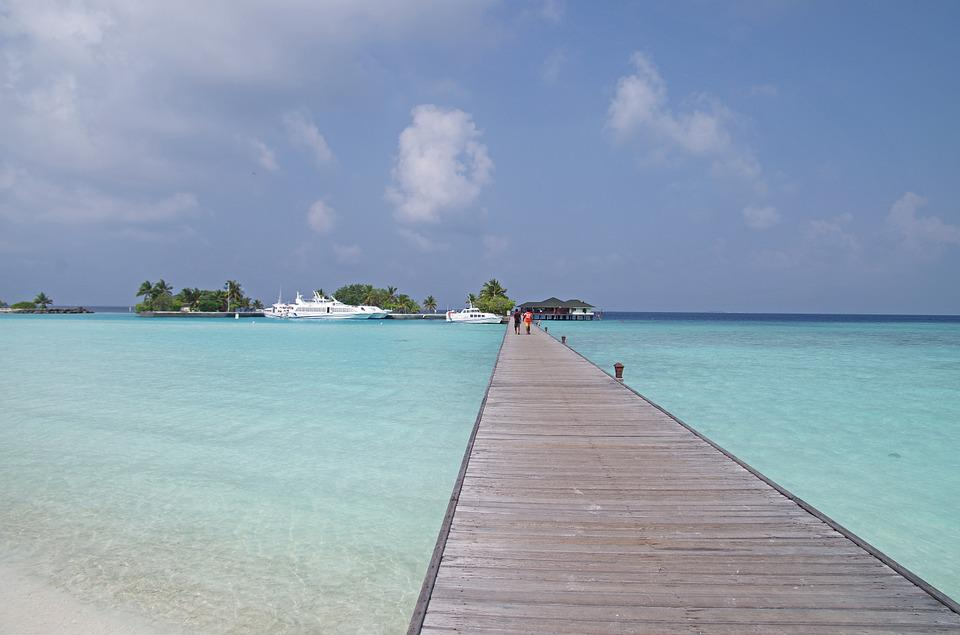 Maladives, Paradise Island, Water Taxi, Pier