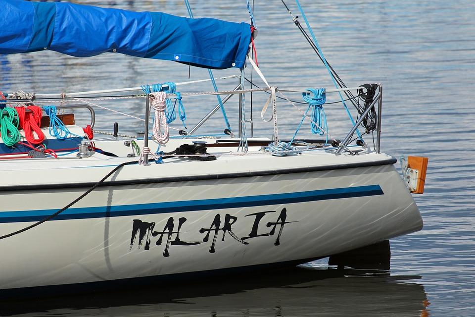 Sailing Vessel, Ship Name, Foil Font, Malaria, Sail