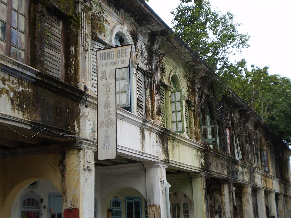Colonial Houses, Malaysia, Malacca, Melaka