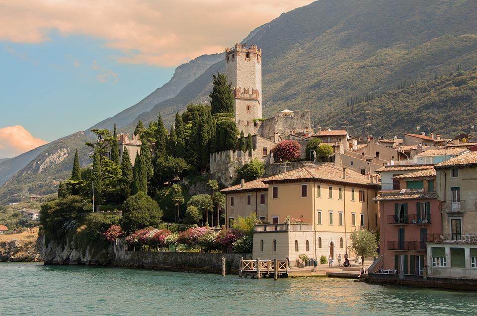 Malcesine, Borg, Lake Garda, Italy, Fortress