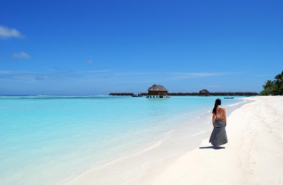 Maldives, Beach, Sea, Water, Holiday, Island, Blue, Sky