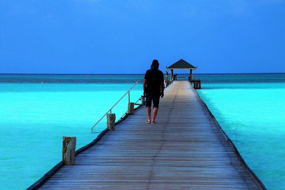 Maldives, The Pier, Bridge, Relax, Indian Ocean