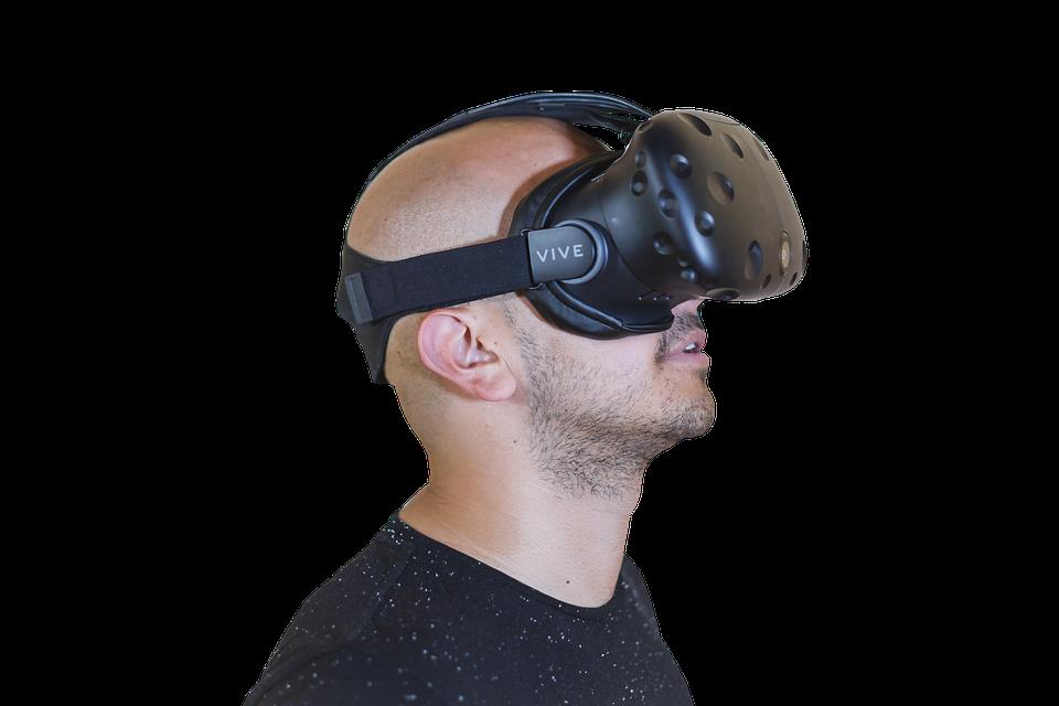 Vr, Bald, Guy, Reality, Virtual, Glasses, Male, 3d