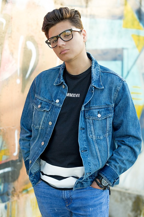 Boy, Guy, Male, Denim, Glasses, Model, Portrait