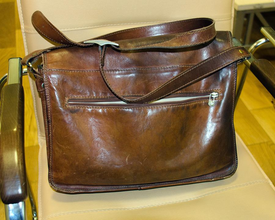 Bag, Leather, Male, Brown