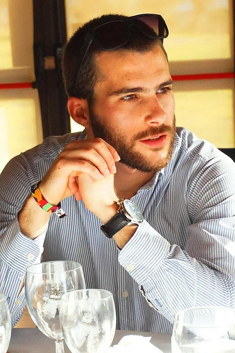 Man Profile, Male Face, Young Man, Beard, Deep Look