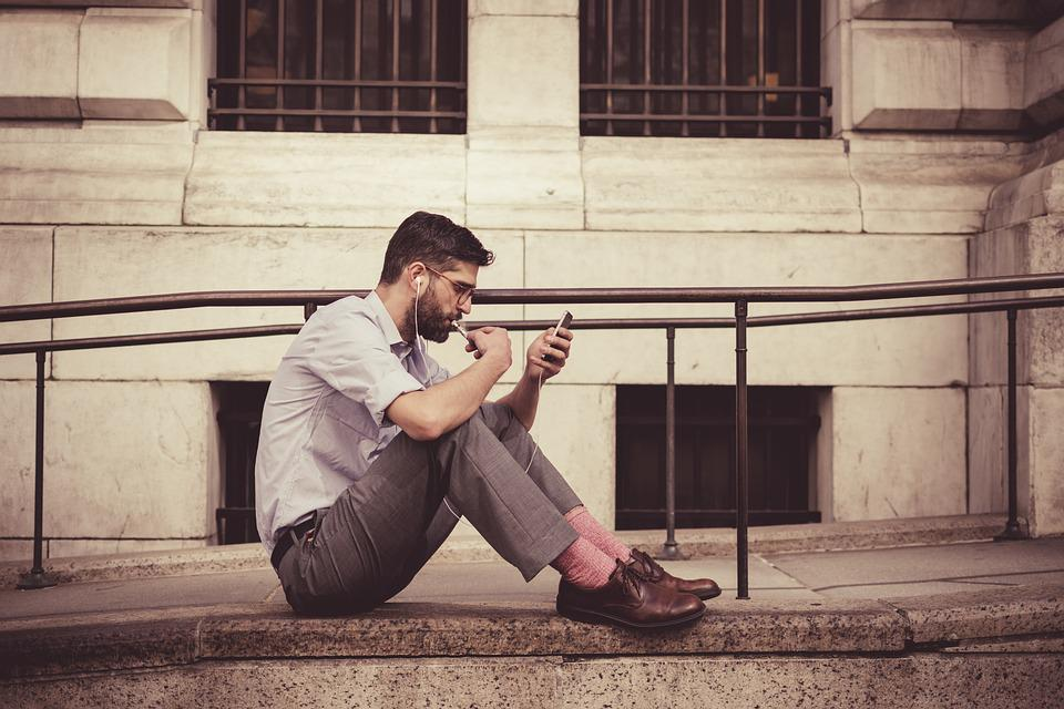 Brown Leather Shoes, Man, Earphones, Fashion, Male