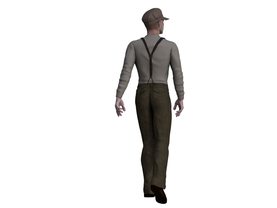 Man, Male, Person, Figure, Stand, Standing, Digital Art