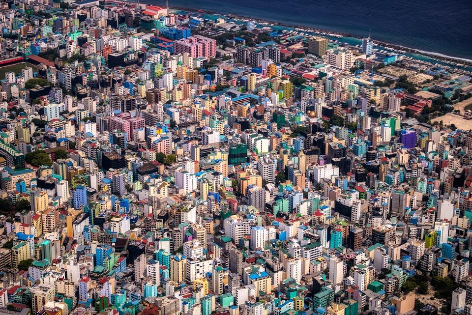 Maldives, Male, City, Capital, Port, Building, Island