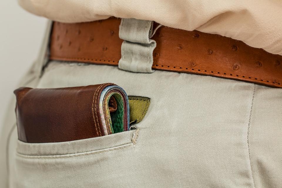 Wallet, Cash, Pocket, Money, Purse, Leather, Male