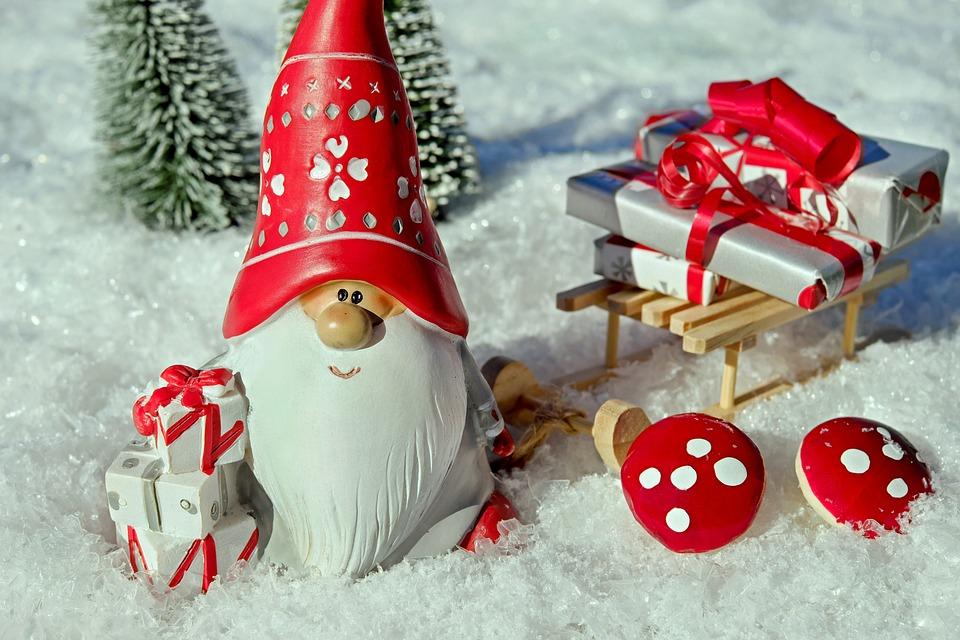 Santa Claus, Christmas Motif, Figure, Imp, Males