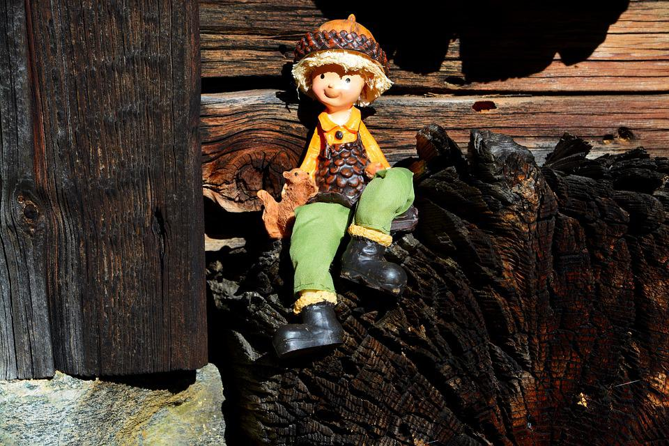 Fig, Males, Doll, Sitting, Wood